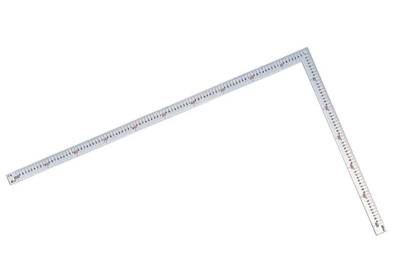 曲尺大金普及型  シルバー  1m×60�  表裏同目  赤数字入