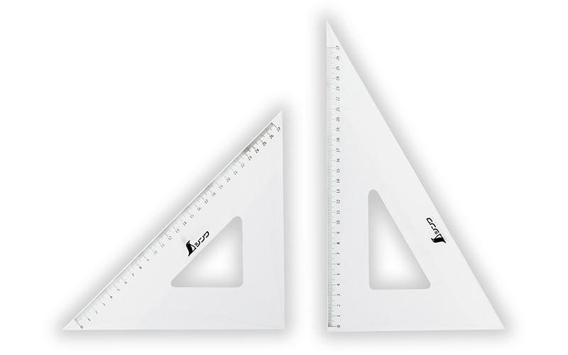 三角定規  アクリル製  30�  2枚組