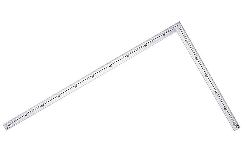 洋裁尺  シルバー  75×35�