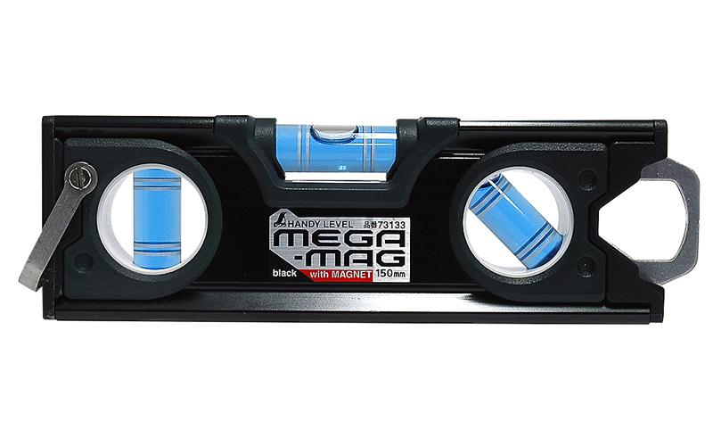 ハンディレベル  MEGA−MAG150�  黒  マグネット付