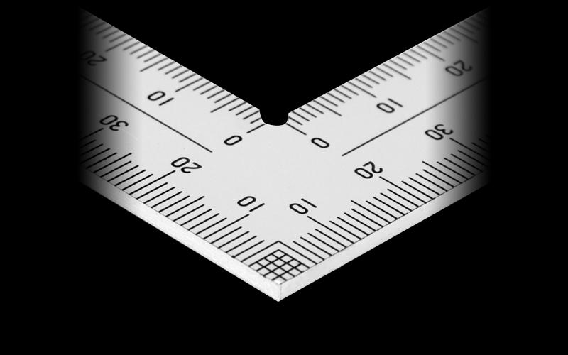 曲尺厚手広巾  ステン  30�  表裏同目  8段目盛  JIS