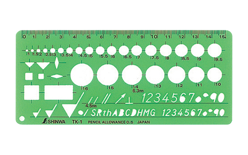 テンプレート  TK−1  仕上記号定規