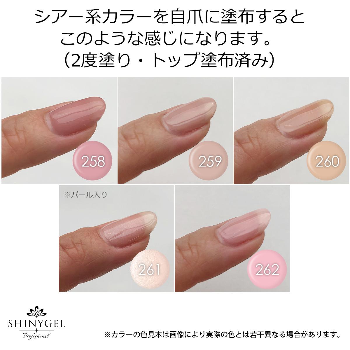 SHINYGEL Professional:カラージェル 262/フェルドスパー 4g (シャイニージェルプロフェッショナル)[UV/LED対応○](JNA検定対応)