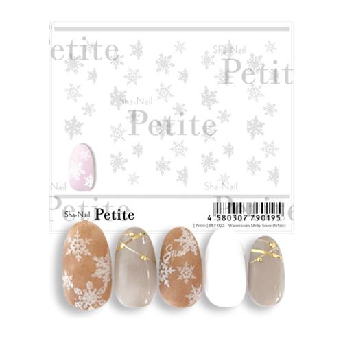 ※在庫処分※(DM便○)Sha-Nail Petie(写ネイルプチ):Watercolors Melty Snow (White)/水彩メルティスノーホワイト/PET-023