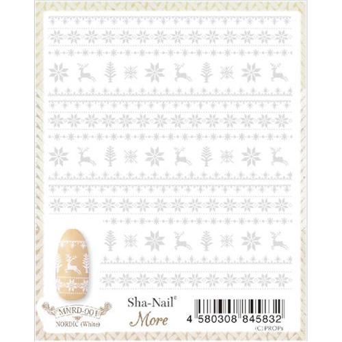 ※在庫処分※(DM便○)Sha-Nail More(写ネイルモア):ノルディック(ホワイト)/MNRD-001