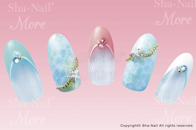 ※在庫処分※DM便○)Sha-Nail More(写ネイルモア):水紋(Water Bubbles)/MWBB-001