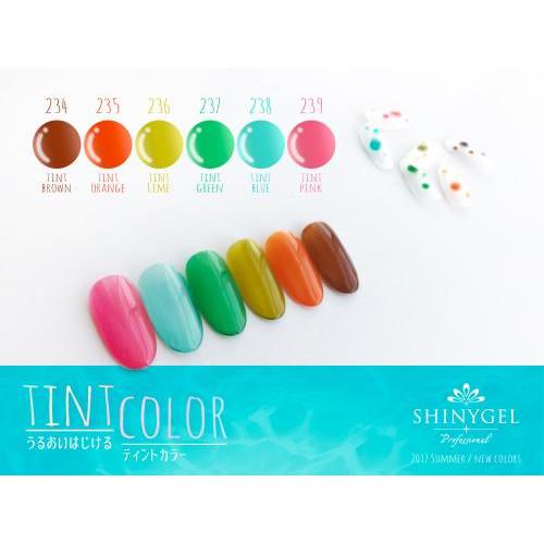 SHINYGEL Professional:カラージェル 234/ティントブラウン 4g (シャイニージェルプロフェッショナル)[UV/LED対応○](JNA検定対応) $