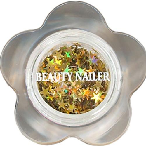 BEAUTY NAILER(ビューティーネイラー):ラメラメ/メタリックゴールドスター FG-36 $