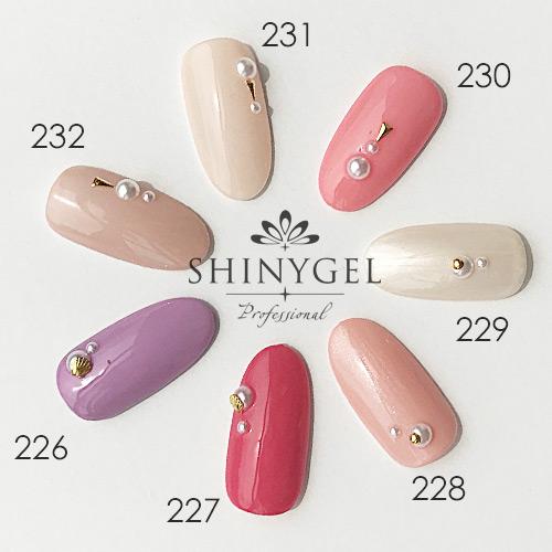 SHINYGEL Professional:カラージェル 229/ピンクホワイト 4g (シャイニージェルプロフェッショナル)[UV/LED対応○](JNA検定対応)