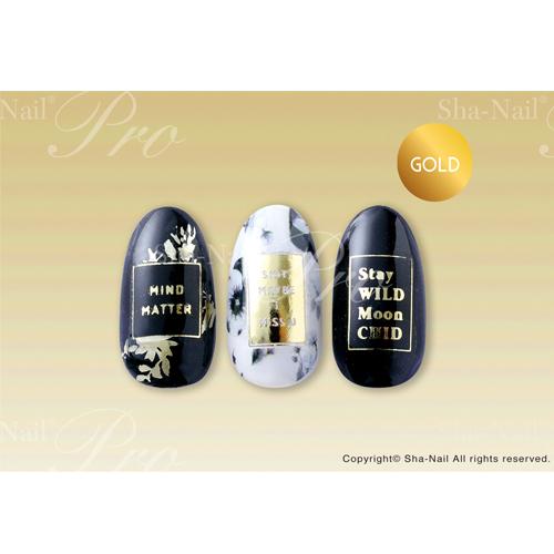 (DM便○)Sha-Nail Plus(写ネイルプラス):ネイルシール  ラベルゴールド /LB-PG