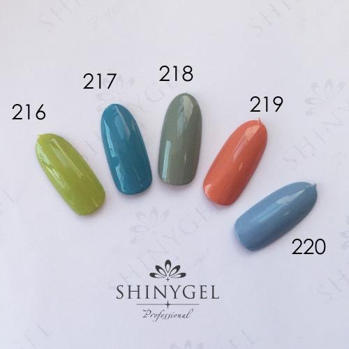 SHINYGEL Professional:カラージェル 218/チロリアングリーン 4g (シャイニージェルプロフェッショナル)[UV/LED対応○](JNA検定対応)