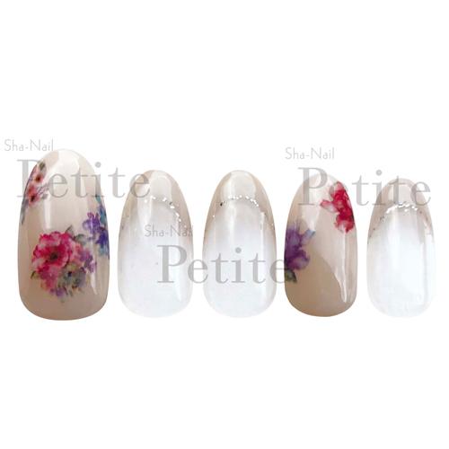 (DM便○)Sha-Nail Petie(写ネイルプチ):ネイルシールWatery Flowers/ウォータリーフラワー/PET-003