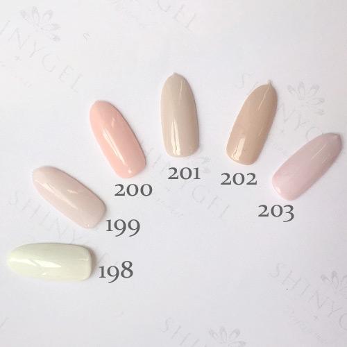 【本店限定】SHINYGEL Professional:カラージェル 203/ミルキーシアーサクラ【milky特別パッケージ】 4g (シャイニージェルプロフェッショナル)[UV/LED対応○](JNA検定対応) $