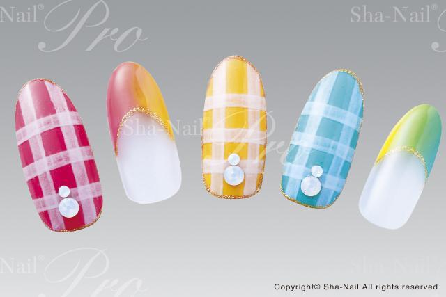(DM便○)Sha-Nail Pro(写ネイルプロ):ネイルシール Standard ギンガムパターンズ/SGP-001