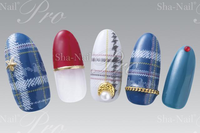 (DM便○)Sha-Nail Pro(写ネイルプロ):ネイルシール Standard ミックスチェックパターンズ/SMCP-001