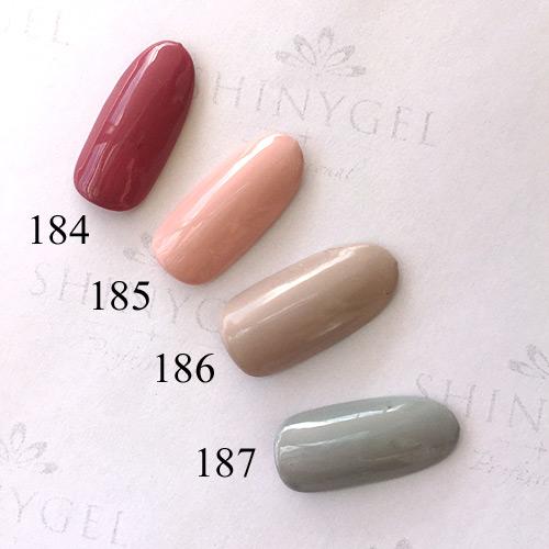SHINYGEL Professional:カラージェル 187/ペールサロー 4g (シャイニージェルプロフェッショナル)[UV/LED対応○](JNA検定対応)