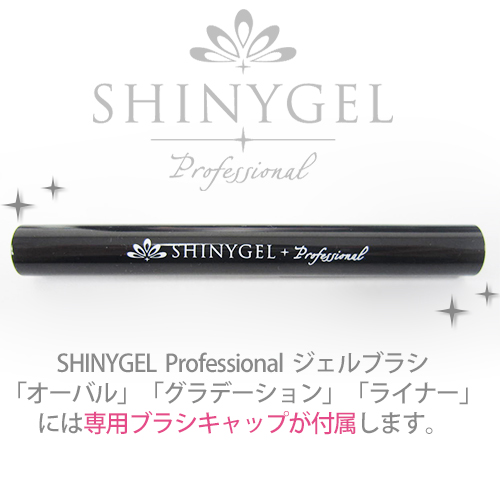 (DM便○)SHINYGEL Professional:ジェルブラシ<ライナー(no.2)ブラシ>ジェルネイル 筆 (シャイニージェル・プロフェッショナル)