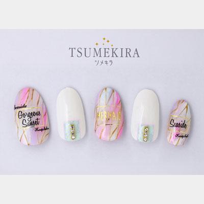 (DM便○)TSUMEKIRA(ツメキラ):ネイルシール 西山麻耶プロデュース3 サマーラベル/NN-NYM-105