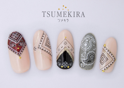 (DM便○)TSUMEKIRA(ツメキラ):ネイルシール ペイズリーパターン/NN-PAI-101