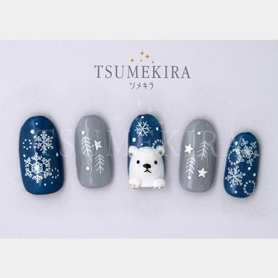 (DM便○)TSUMEKIRA(ツメキラ):ネイルシール 雪の結晶8 ユキノカタチ ホワイト/NN-YUK-801