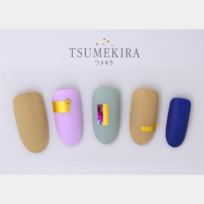 (DM便○)TSUMEKIRA(ツメキラ) ネイルシール misakiプロデュース2:Matte Gold(マットゴールド)/SG-MIS-102