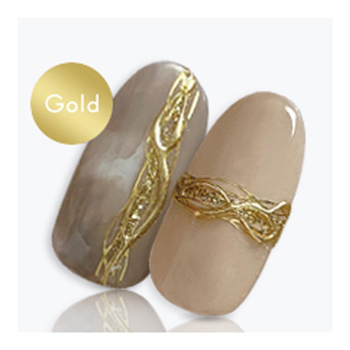 Sha-Nail Plus(写ネイルプラス):ネイルシール  ウェーブライン ゴールド/wave line -Gold-/RUMI-PWL01