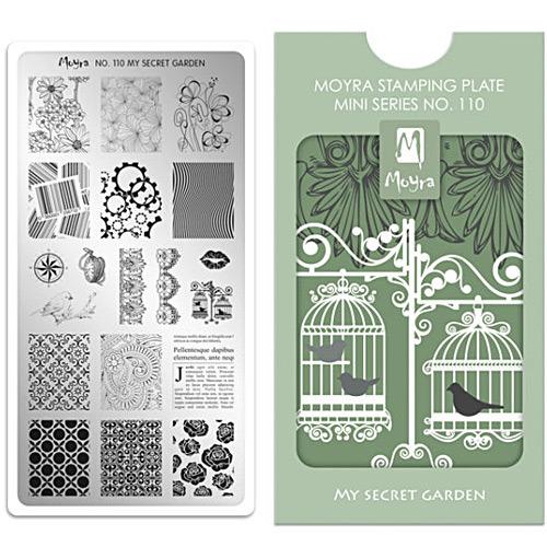 Moyra(モイラ):スタンピングプレート ミニ/No.110 My Secret Garden