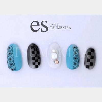 TSUMEKIRA es(ツメキラエス):ネイルシール 和柄帯/ES-WOB-101