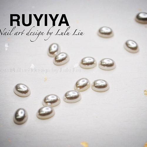 RUYIYA(ルイーヤ):オーバルパール1306 ホワイトS/4x6mm(20粒)