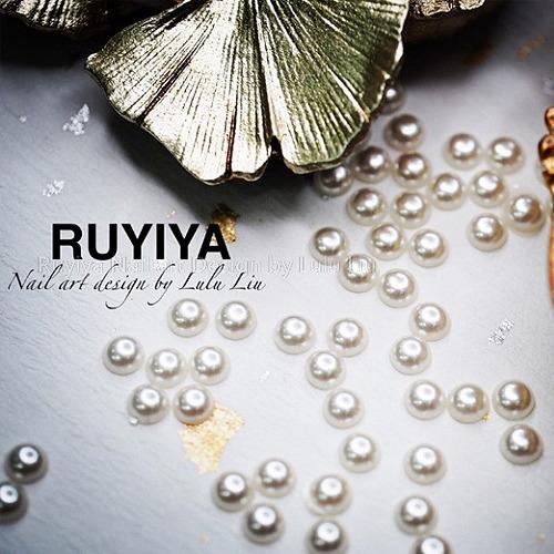 RUYIYA(ルイーヤ):半丸パール1310 ホワイトS/4mm(20粒)