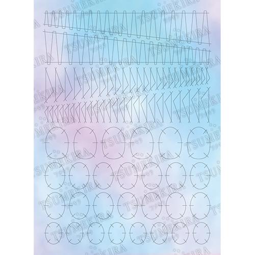TSUMEKIRA オーロラホロ(ツメキラ):ネイルシール Hanakoプロデュース オーロラフィルムシール モードカット/OH-HNK-102