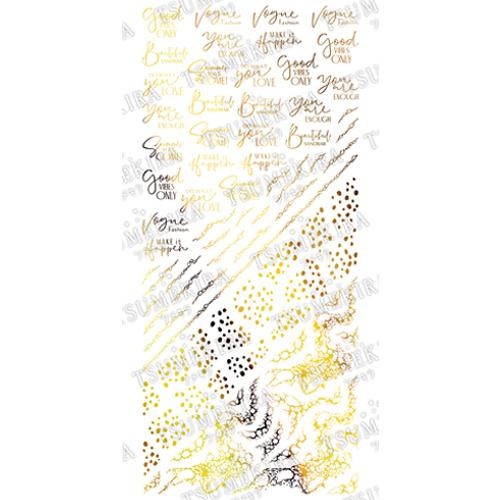 TSUMEKIRA(ツメキラ)ネイルシール 西山麻耶 プロデュース7 It's up to you ゴールド/SG-NYM-113 (ジェル専用)