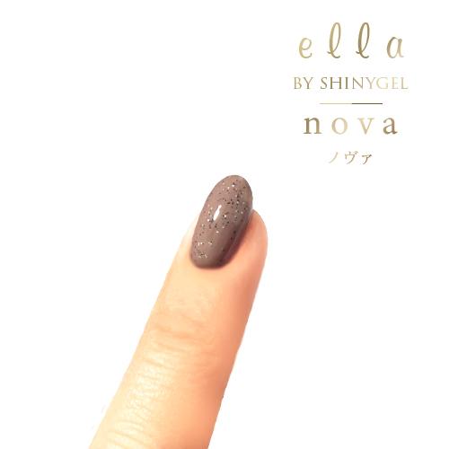 ella BY SHINYGEL nova:カラージェル 1022 ブラウンサンド(エラバイシャイニージェルノヴァ)[UVLED対応○] $