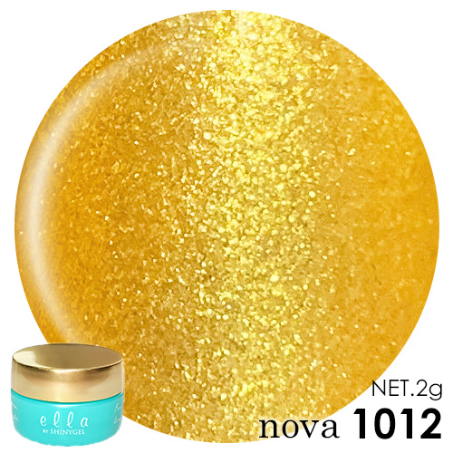 ella BY SHINYGEL Nova Color Gel 2g / 1012 Light Gold Glitter