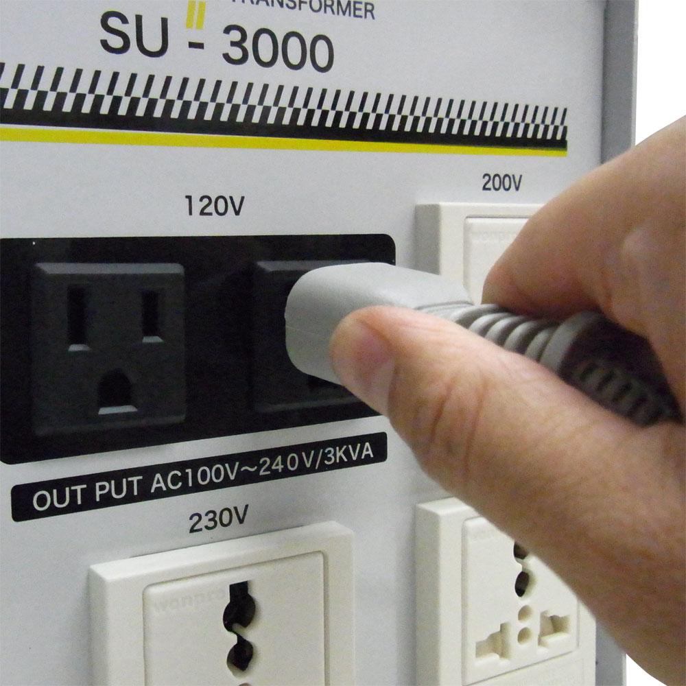SU-3000 海外国内用 3000W 変圧器 アップダウントランス [スワロー電機]