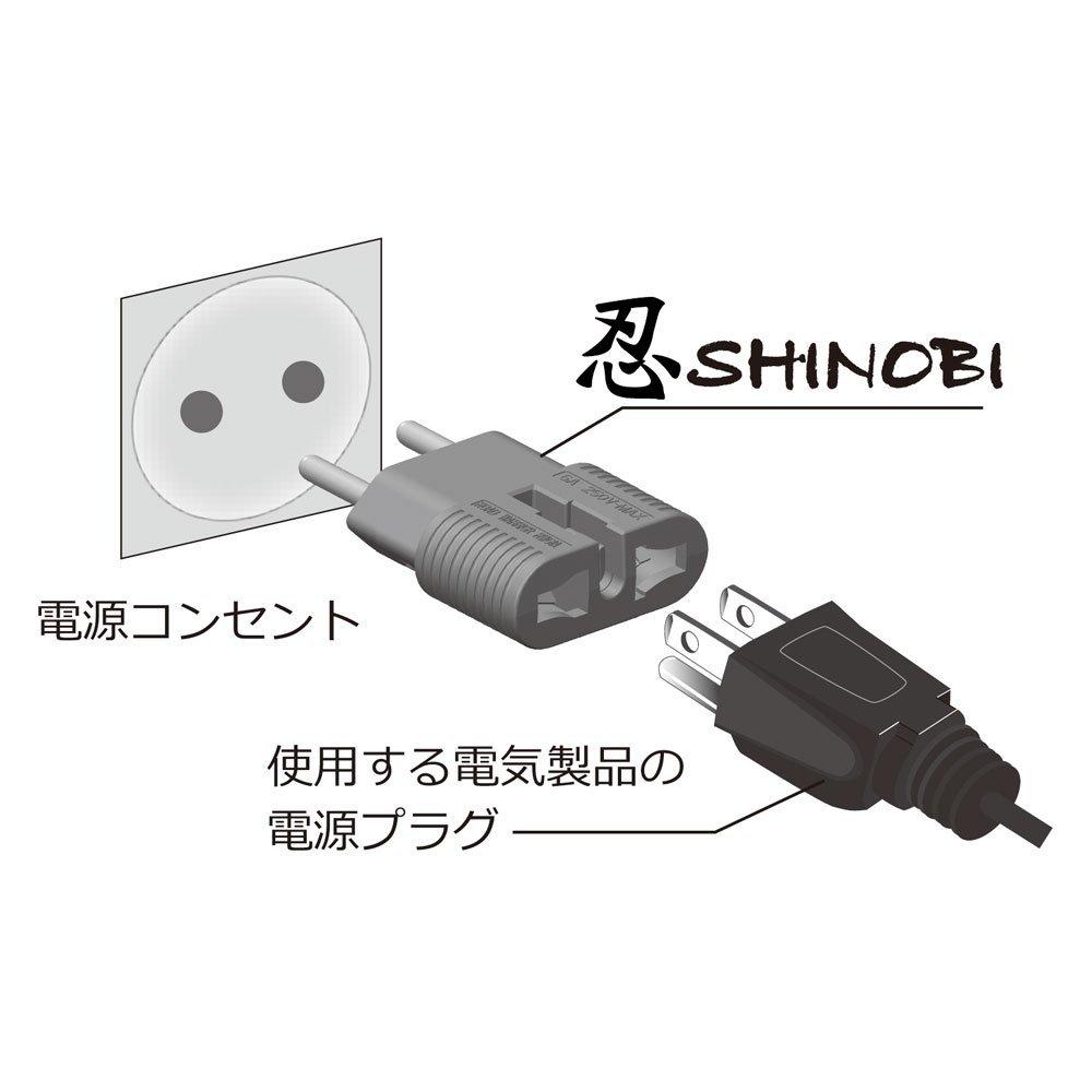 RWG01C 全世界対応マルチ電源変換アダプター 忍SHINOBI(忍袋付き) [ROAD WARRIOR]