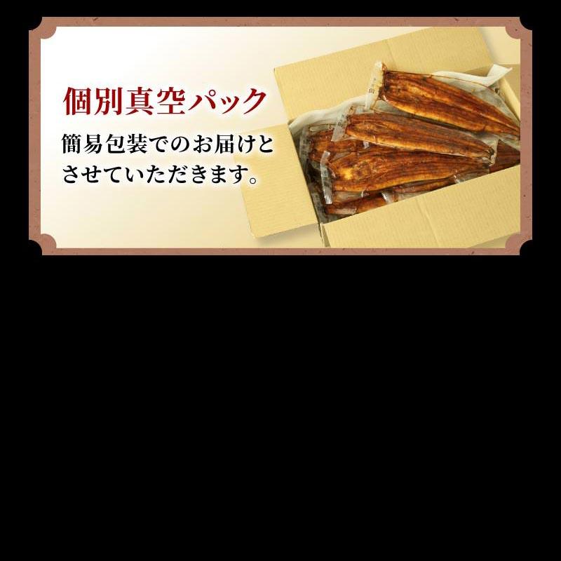 静岡県産うなぎ蒲焼(大)1kgセット[155〜185g×6尾 無地袋+化粧箱なし]【冷凍】