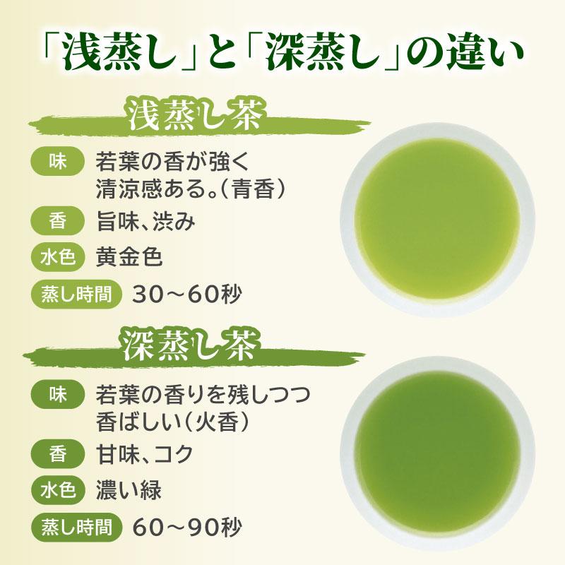 掛川茶(深蒸し)と川根茶(浅蒸し)各100g 飲み比べセット