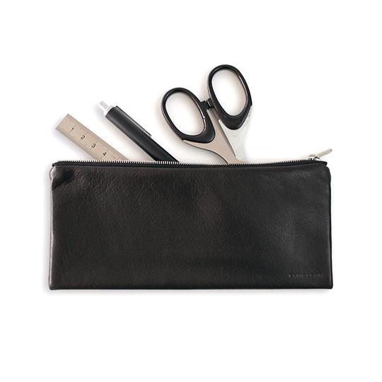 本革ペンケース ブラック グレー 日本製 おしゃれ 牛革 ギフト メンズ レディーズ シンプル メガネケース ENVELOPE PEN CASE