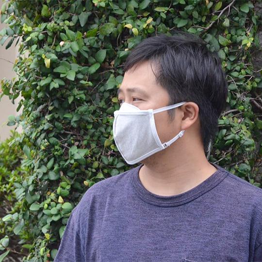 炭のマスク 布 消臭 オーガニックコットン 日本製 男女兼用 アジャスター付き コロナ対策 花粉対策