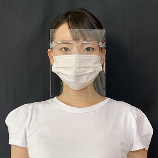 平面フェイスシールド 歪みが少ない コロナ感染予防 飛沫対策 美容師やネイリストにも 作業用 メガネタイプ 1セット