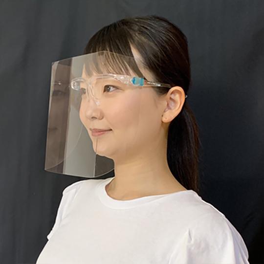 平面フェイスシールド 歪みが少ない コロナ感染予防 飛沫対策 美容師やネイリストにも 作業用 メガネタイプ 平面 5セット
