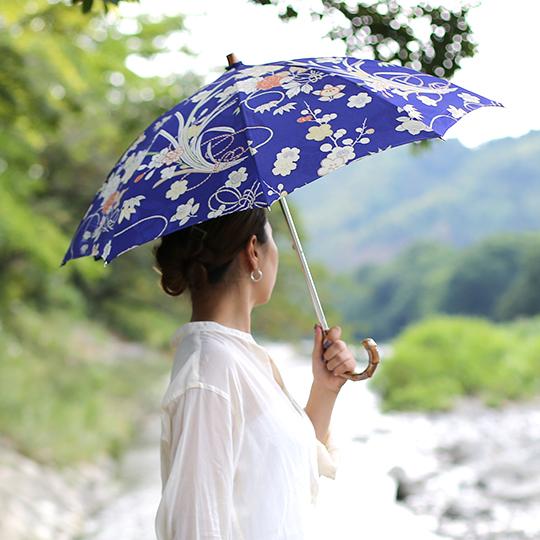 着物から作るオーダーメイド 日傘 世界にひとつ オリジナル 形見や思い出の品 浴衣 着物リメイク 作家 手作り お預かりから1ヶ月~2ヶ月でお届け
