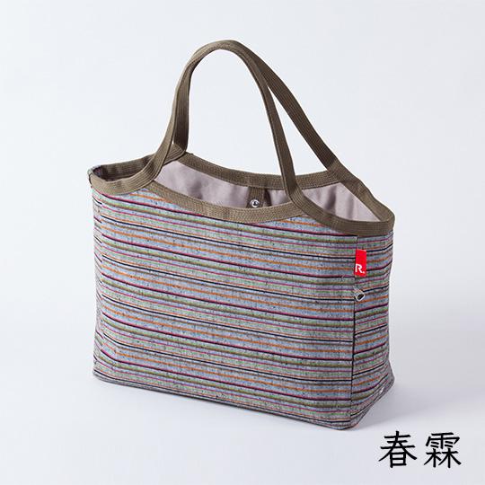 遠州綿紬 トートバッグ 収納ポケット付き 静岡土産 ギフトにもオススメ ぬくもり工房  コラボ商品 ROOTOTE 日本色 全2色