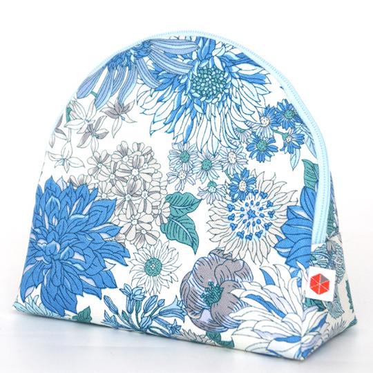 縦収納メイクポーチ スッと出し入れ 花柄 仕切り多い コンパクト 自立 ギフト 化粧 コスメ sussu フラワー