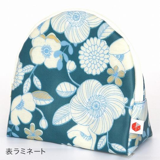 縦収納メイクポーチ スッと出し入れ 花柄 仕切り多い コンパクト 自立 ギフト 化粧 コスメ sussu フラワーホワイト