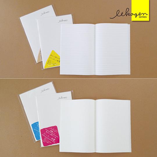 おもしろノートセット 6冊 A5  いいかげん罫線 書きやすい 手書き罫線 7mm よこ罫線 5mm方眼 文房具 プチギフト いいかげんノート