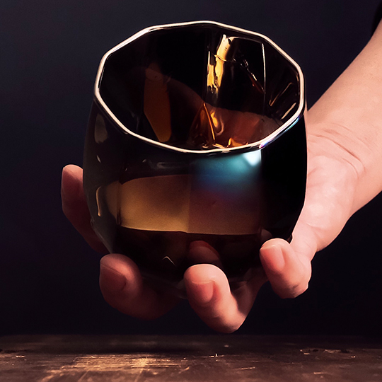 チタンジュエリーグラス タンブラー 宇宙開発技術 職人技術 お祝い お返し オリジナルボックス入り ガラス製 PROGRESS プログレス Vertex 全2色