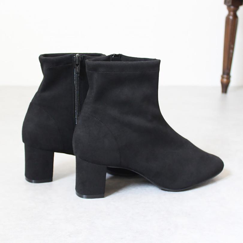 Stretch Squaretoe Short Boots [No.580]