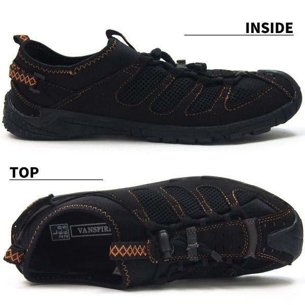 スリッポンシューズ メンズ VANSPIRIT VR-2170 オフィスサンダル履き メッシュ ストレッチ素材 通気性抜群 春靴 夏靴 ウォーキング アウトドア スポーツ ヴァンスピリット